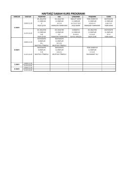 Okulumuz DYK Kurs Programları