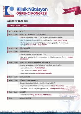 kongre programı