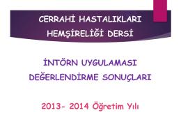 2013-2014 Öğretim Yılı