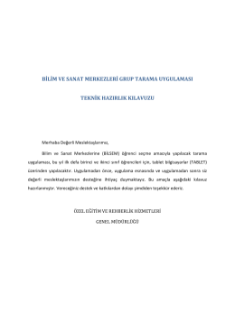 Teknik Kılavuz - Aksaray Milli Eğitim Müdürlüğü