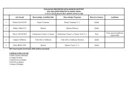 Genel Yatay Geçiş Sonuçları - Sosyal Bilimler Enstitüsü