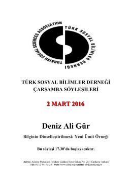 2 mart 2016 çarşamba söyleşisi programı