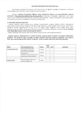 form ile istenen diğer belgelerin birer örneği ayrıca yayın
