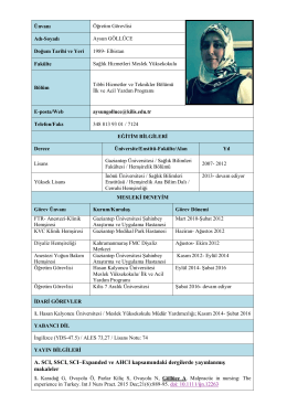 A. SCI, SSCI, SCI–Expanded ve AHCI kapsamındaki dergilerde