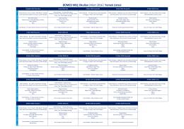 BÜMED MEÇ Okulları  Mart 2016   Yemek Listesi