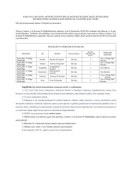 Karayolları Genel Müdürlüğü Engelli işçi alımı ilanının