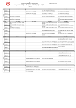 2015-2016 Bahar - DKAB I-Ö - Ders Programı
