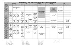 SOSYAL HİZMET– 2015-2016 BAHAR YARIYILI HAFTALIK DERS