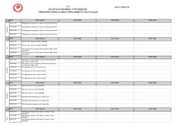 Bahar Yarıyılı İkinci Öğretim Ders Programı(23.02.2016)