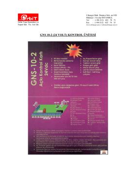 GNS 10-2 (24 VOLT) KONTROL ÜNİTESİ