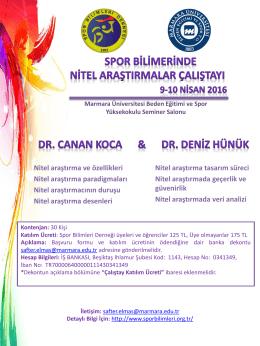 Spor Bilimlerinde Nitel Araştırmalar Çalıştayı düzenleniyor!