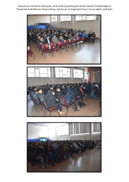 Sosyal Güvenlik Bilincinin Oluşturulması Konferans