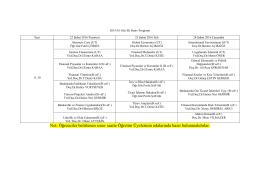 Öğrenci 21-23 ŞUBAT 2016 TARİHLİ EK SINAV PROGRAMI