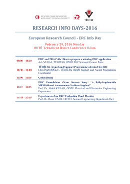 research ınfo days-2016