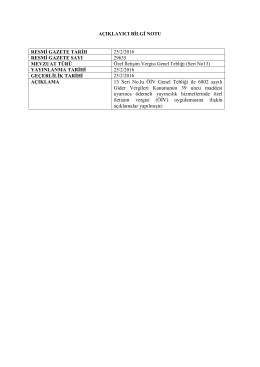 13 Seri No.lu ÖİV Genel Tebliği ile 6802 sayılı Gider Vergileri