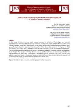 Eğitim ve Öğretim Araştırmaları Dergisi Journal of Research in