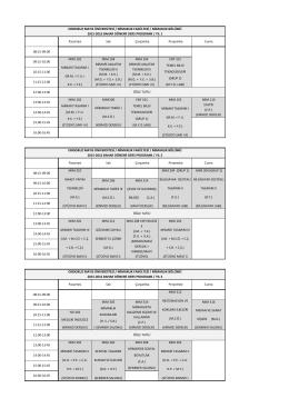 2015-2016 Bahar Dönemi Ders Programı Değişikliği