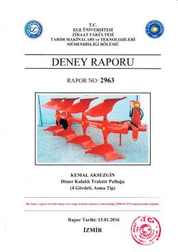 DENEY RAPORU