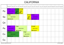California Ders Programı