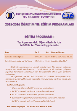 Slayt 1 - Fen Bilimleri Enstitüsü