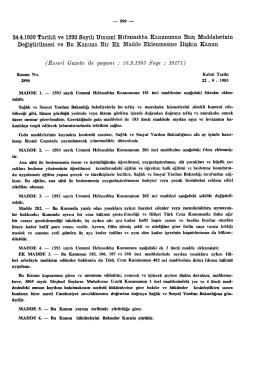 24.4.1930 Tarihli ve 1593 Sayılı Umumî Hıfzıssıhha