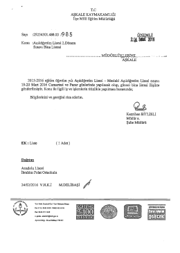 açıköğretim lisesi 2 dönem sınavı bina listesi 25.02.2016 10:22