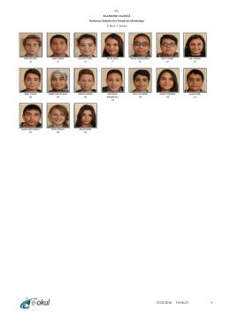 8-C Sınıfı - BALIKESİR / BURHANİYE