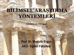 gözlem ve mülakat - Dokuz Eylül Üniversitesi