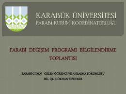 farabi - Karabük Üniversitesi