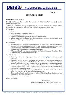 sırk-16-16 hazır beyan sistemi hk