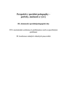 Odborná pubikace vydaná z příspěvků konference z roku 2015