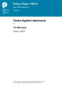 Česká digitální diplomacie - Asociace pro mezinárodní otázky