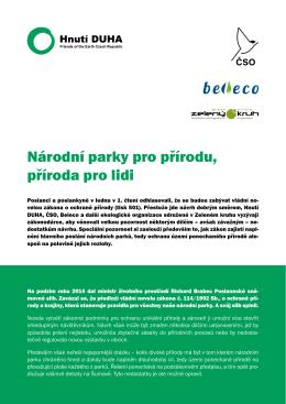 Národní park pro přírodu, příroda pro lidi