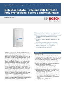 Detektor pohybu – záclona LSN TriTech+ řady Professional Series s