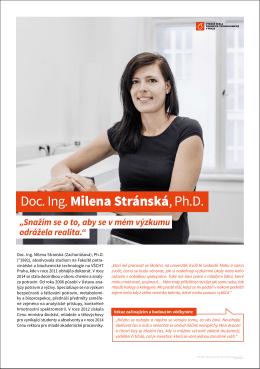 Doc. Ing. Milena Stránská, Ph.D.