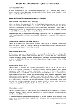 bezpečnost ve škole - Základní škola Koperníkova