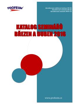 Katalog seminářů březen a duben 2016.