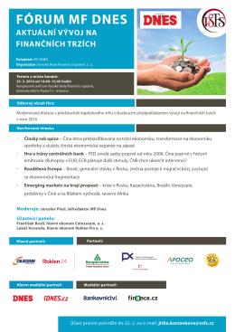 fórum mf dnes - Vysoká škola finanční a správní