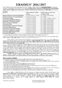 informačním letáku - Ústav českého jazyka a teorie komunikace