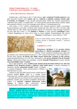 Počátky Českého knížectví (9. – 11. století) a) Bořivojovi synové
