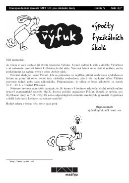 Výfuk, V. ročník, 4. číslo
