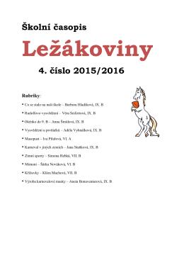 Ležákoviny - Základní škola Hlinsko