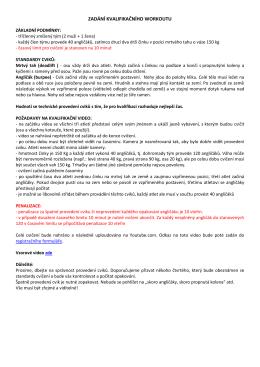 Podmínky videokvalifikace a registrace