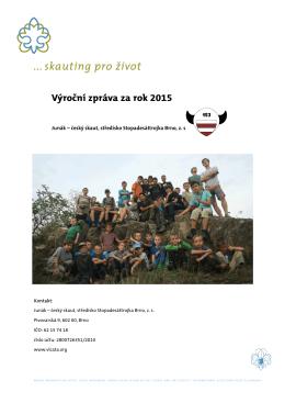 Výroční zpráva 2015 - 22. středisko Junáka Brno