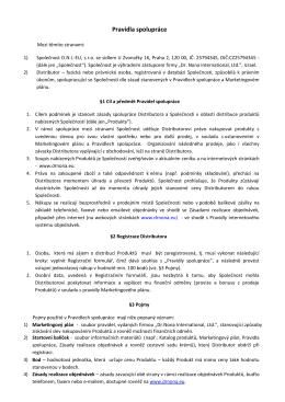 Stáhněte si Pravidla spolupráce platná od 1.3.2016