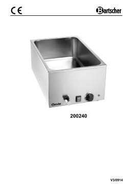 Návod - Bartscher GmbH