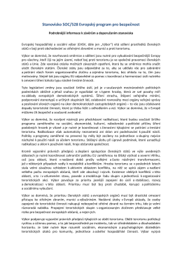 Stanovisko SOC/528 Evropský program pro bezpečnost