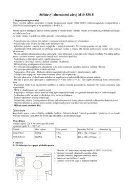 Střídavý laboratorní zdroj M10-530-5