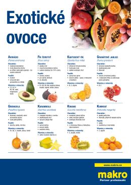 Nabídka exotického ovoce