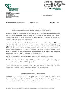 Zahájení správního řízení SR/0259/SC/2016